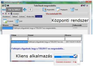 online kereskedelem üzenetkezelő